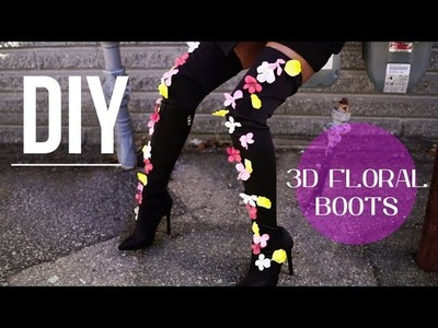 DIY 3D Floral Thigh High Boots (EASY!)