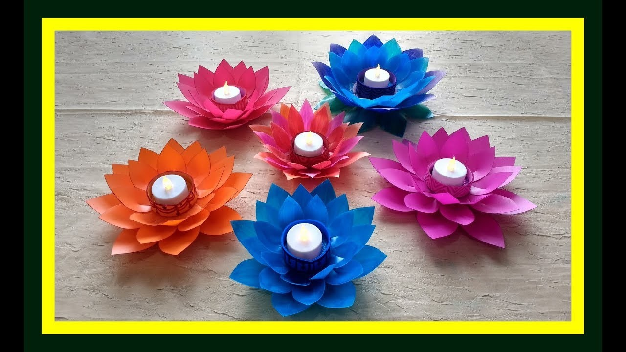 Diy Art And Craft Tutorial Howto Make Lotus Flower Candle