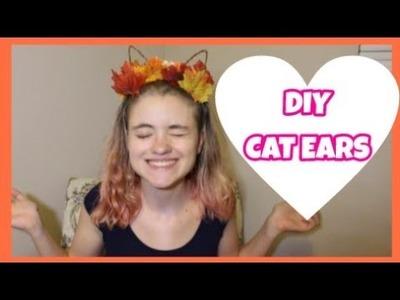 DIY Cat Ear Flower Crown