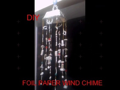 Diy Christmas spacial wind chime.foil paper craft.