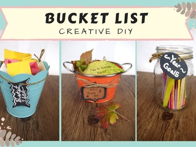 DIY Creative BUCKET LIST CRAFT  ideas for motivation!