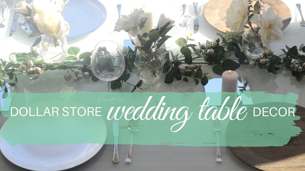 DIY DOLLAR STORE WEDDING TABLE DECOR tutorial