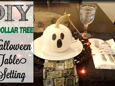 DIY Dollar Tree Halloween Table Setting | Dollar Tree Haul