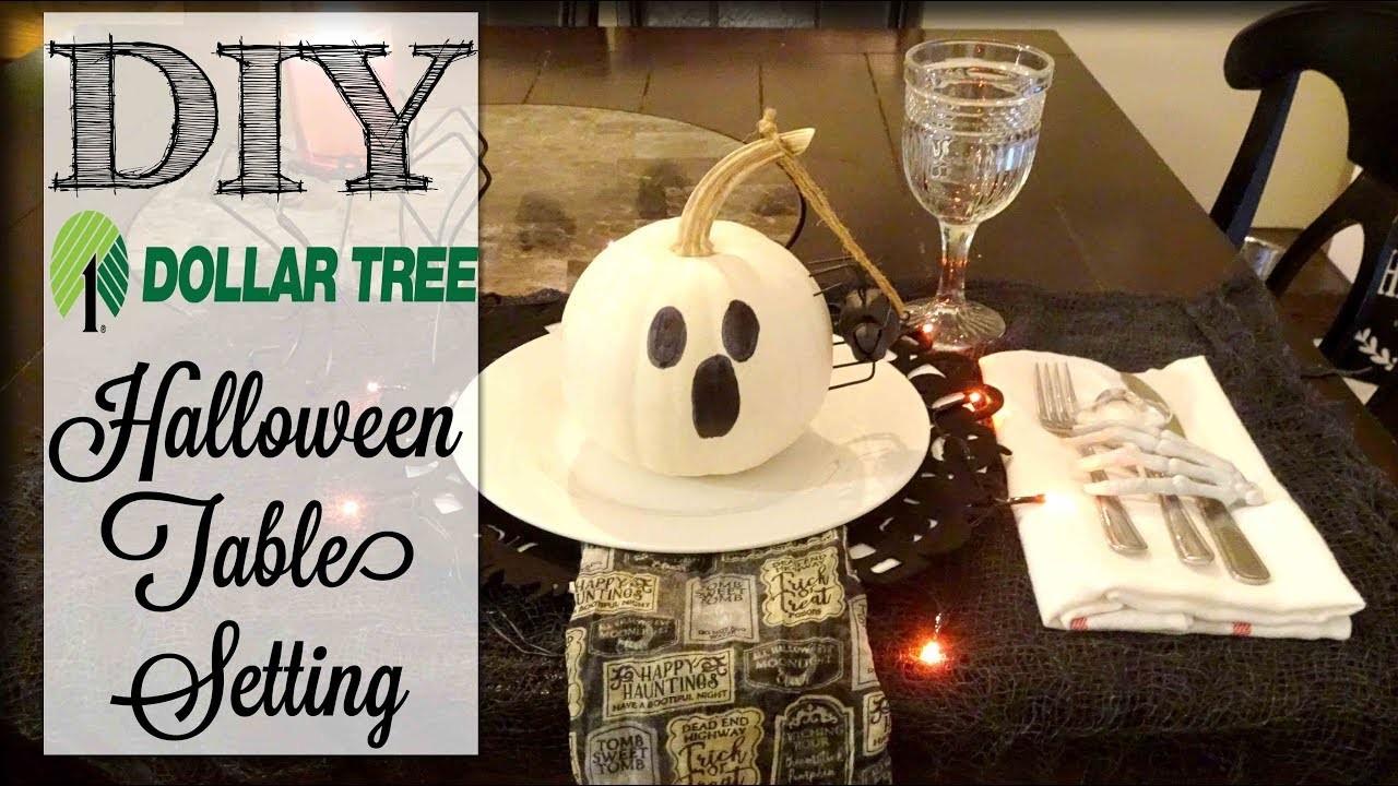 DIY Dollar Tree Halloween Table Setting   Dollar Tree Haul