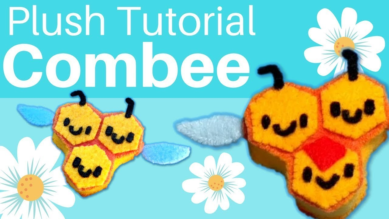 DIY: Felt Combee Pokemon Plush Tutorial   Free Pattern!