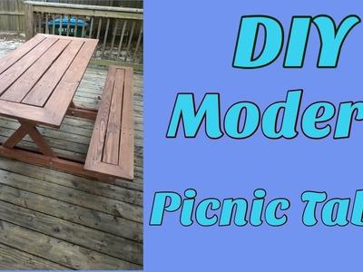 DIY Modern Picnic Table