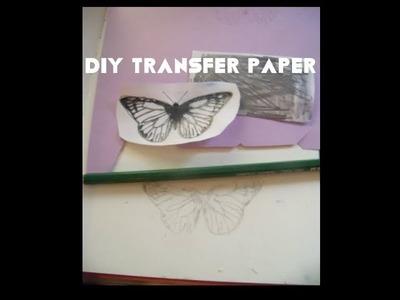DIY Transfer Paper. How to make handmade transfer. graphite paper