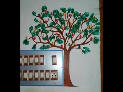 DIY Tree with Birds using Pistachio shells-(craft world)