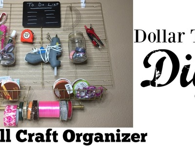 Dollar Tree DIY Handy Craft Wall Organizer | Perfect For Keeping All Your Crafts In Reach