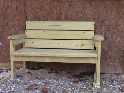 Easy Homemade Garden Bench