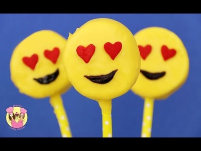 EMOJI MARSHMALLOW POPS  - Valentine's Emoticon heart eyes  - Baking with Charli's Crafty Kitchen