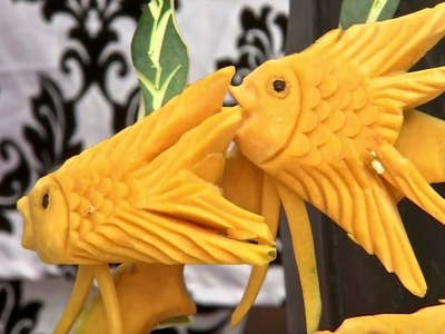 Food & Ice Carving from Philippines. Sculpture, Ideas, Art, Fruit, Vegetable