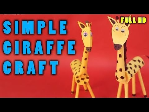 G for Giraffe Kids Craft - How To Make giraffe With Craft Paper - Step By Step DIY