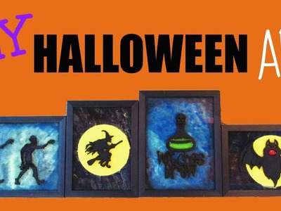 Halloween Art Decor DIY ~ Dollar Store Crafts ~ Craft Klatch