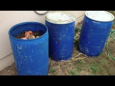 How Do I Make Compost Bins From Barrels? : Composting