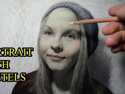 How I draw a photo realistic portrait with pastels.