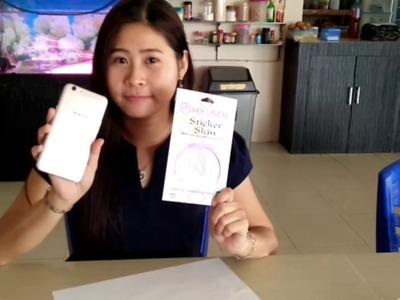 HOW TO APPLY SKIN GLITTER FOR SMARTPHONE OPPO F1S