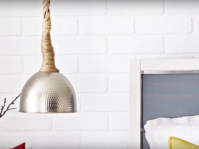How to Create a Rope-Wrapped Pendant Light