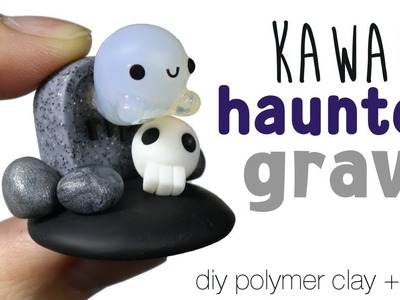 How to DIY Kawaii Haunted Ghost Grave polymer clay.resin Tutorial