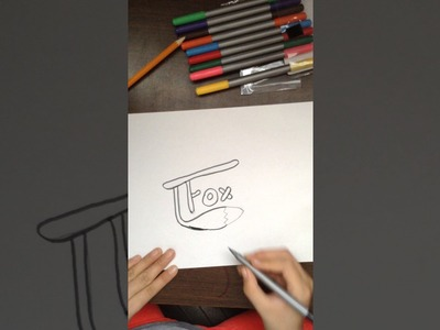 How to draw Tfox logo