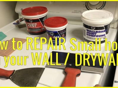 How to Fix a small Hole in the Wall - Drywall Patch Repair - EASY and SIMPLE