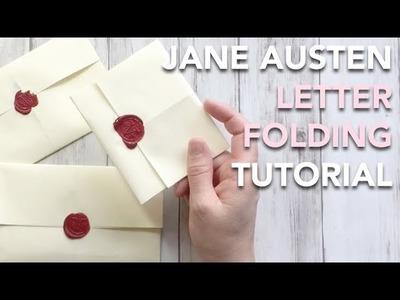 HOW TO fold a Regency Letter - Jane Austen style! | TUTORIAL