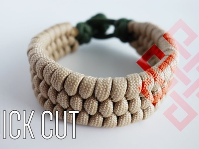 How to Make a Knot and Loop Slim Trilobite Paracord Bracelet Tutorial Quick Cut