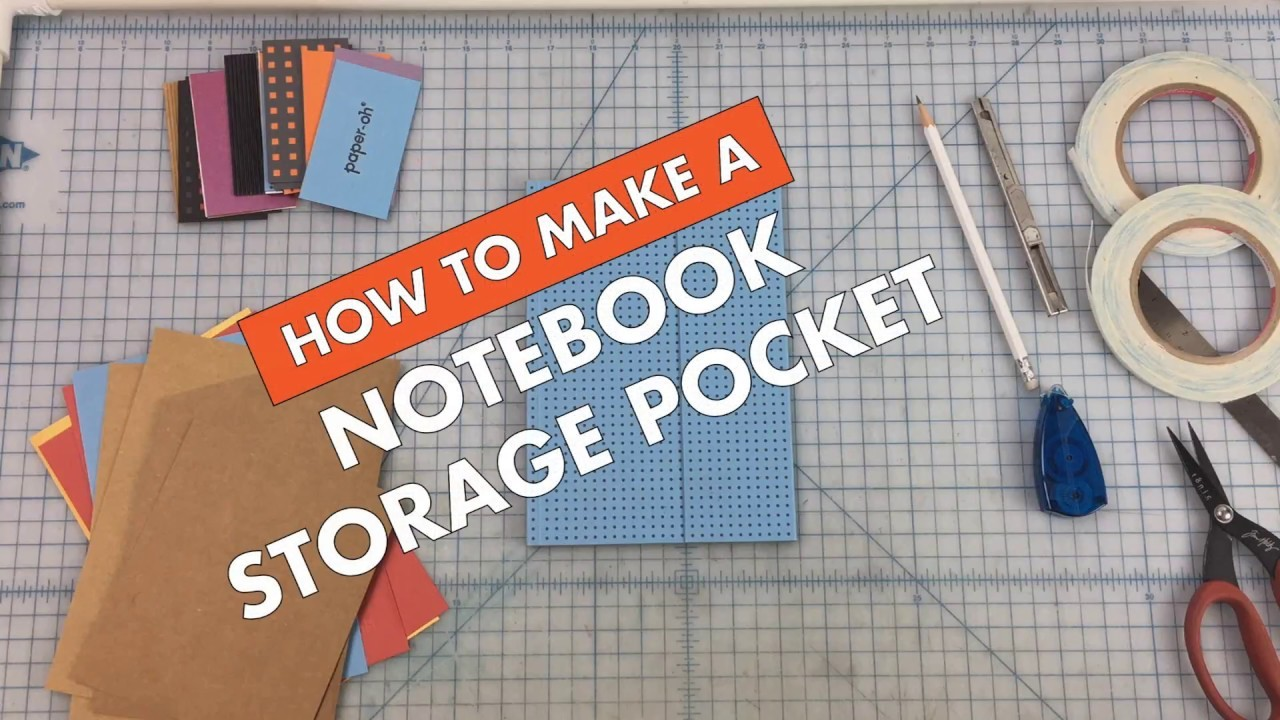 How To Make a Notebook Storage Pocket For Your Paper-Oh Notebook
