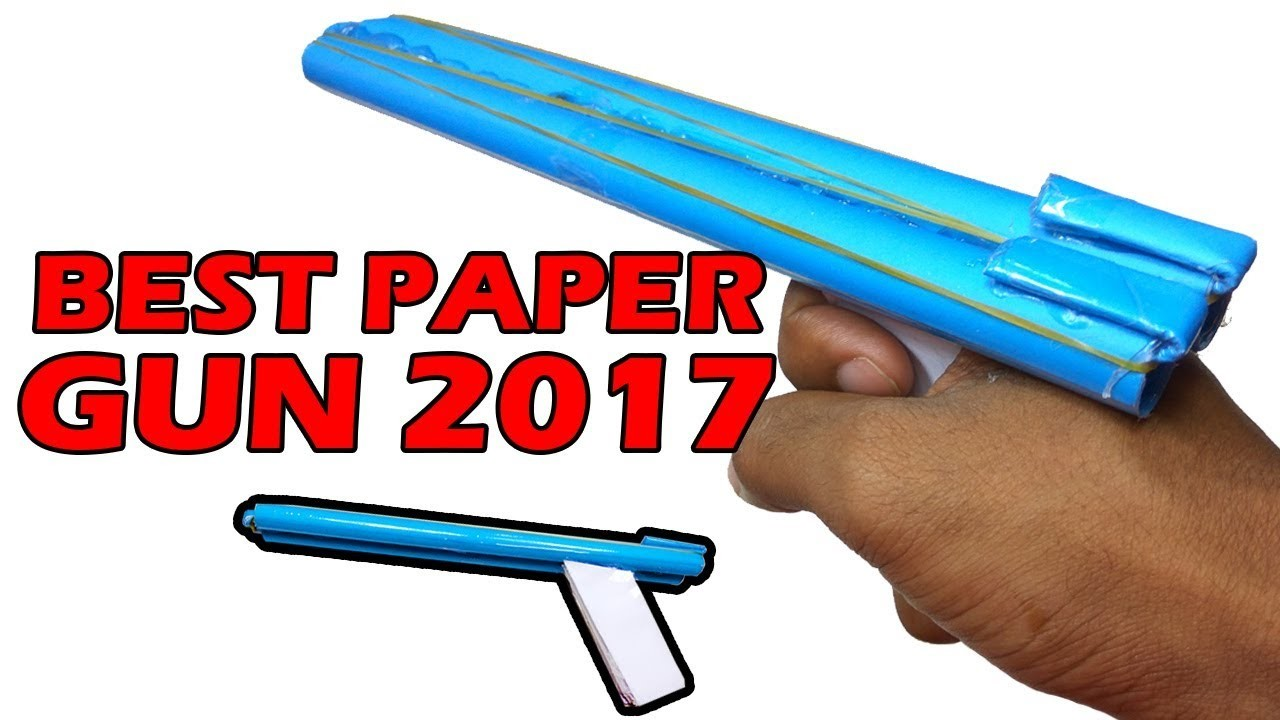How to Make a Paper Toy Gun that Shoots Rubber Bands, Easy