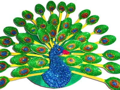 How to make a Peacock from spoon | peacock craft | Nalicraft
