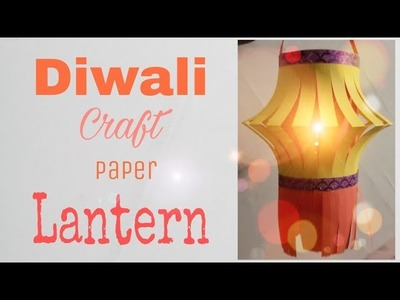 How to make colorful kandil (Lantern) at home. craft idea. DIY Diwali Lantern