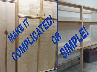 How to make easy 2x4 garage shelves more complicated