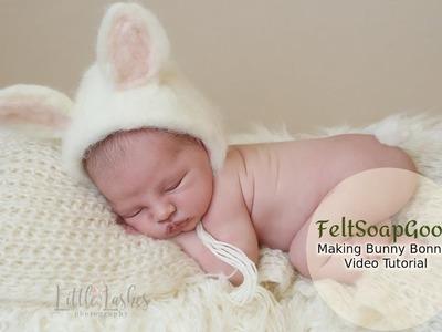 How to make newborn bonnet Bunny by FeltSoapGood
