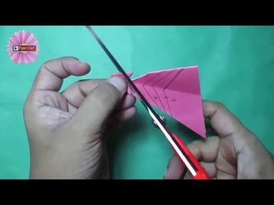 How to make simple&easy paper cutting flower designs || DIY Craft|| कागदापासून फुले कशी तयार करावी??