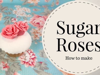 How to make simple sugar roses without wires? (5 mins)