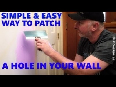 How to REPAIR DRYWALL - Patch a Hole in the Wall