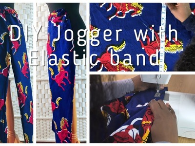 How to sew a trouser with elastic band and pocket