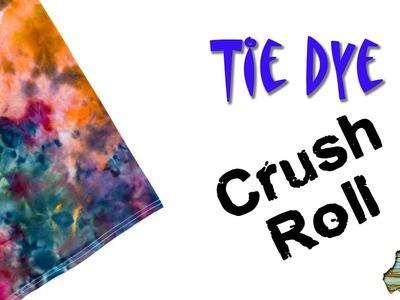 How to Tie Dye:  Crush Roll  [Ice Dye]