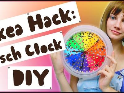 IKEA HACK: Rusch Clock DIY   Colour Wheel Inspired