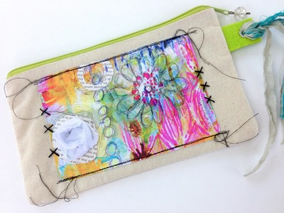 In the Garden Altered Pouch Tutorial