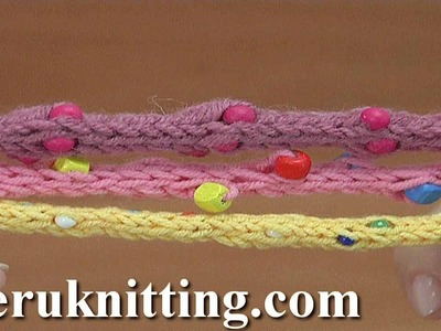 Knitted I-Cord With Beads Tutorial 162