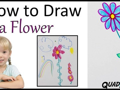 Learn to Draw a Simple Flower, for Kids! - Craft Time with Ashley
