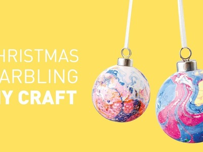 Marbled Christmas Baubles DIY Craft | Educational Experience