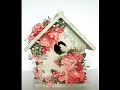 Mixed Media Birdhouse for Flying Unicorn