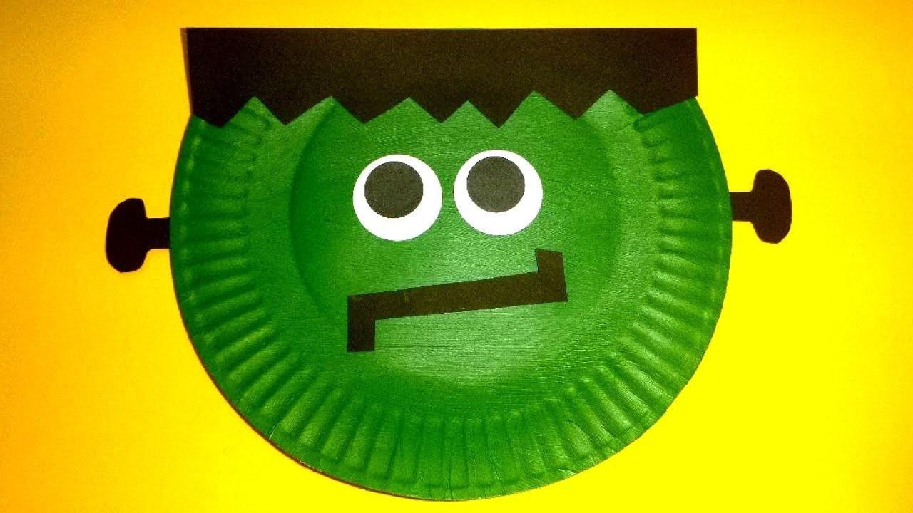 Paper Plate Frankenstein | Halloween Craft for Kids | Paper Plate Craft