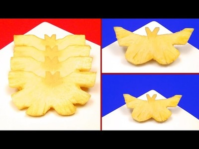 Pineapple Butterflies in 3 Minutes. Food Art, How-To, Tips, Tricks, Party Ideas