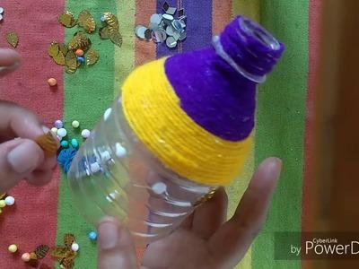 Plastic Bottle    Craft    Ideas    DIY    Recycling Crafts    Flower Vase    Thermocol Flower Pot.