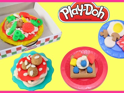 PlayDoh Pizza Party and Breakfast Food Set For Kids │ Play-Doh Toys