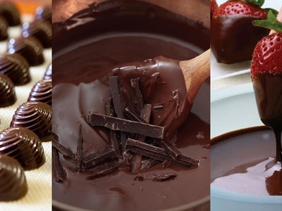 Simple Way to Melt Temper Chocolate with Jill