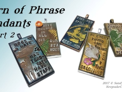 Turn of Phrase Pendants Pt.2-Polymer Clay Jewelry Tutorial